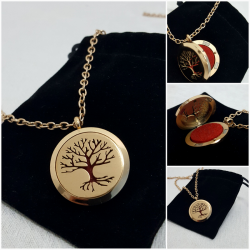 Aroma necklace Gold + Oil